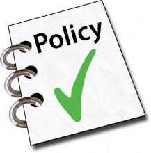 policy with a check mark